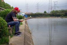 Gone Fishin' (Under Some Scary Power Lines in Pudong)