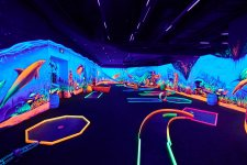Blacklight Minigolf Opens In A Distant Mall, Finally Brings Minigolf Into The Space Age It Deserves
