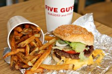 BURGER ALERT: Five Guys Opens This Monday at 11am