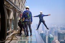 We Sky-Walked the Jinmao Tower 360 Meters In the Air